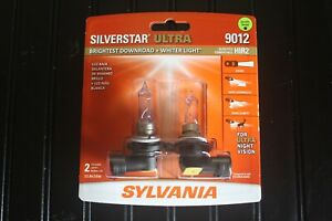 Sylvania Silverstar Ultra 9012 Hir2 55w Two Bulbs Head Light Low Beam Replace Oe