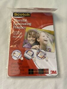 Scotch 3m Thermal Laminating Pouches 20 Count 4 X 6 5 Mil Tp5900 20