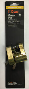 Tongue Trailer Coupler Lock 1 4 Inch Pin 3 4 Inch Span Brass Plate Easy Operate