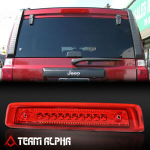 Fits 2006 2010 Jeep Commander Chrome Red Led Third 3rd Brake Light Tail Lamp