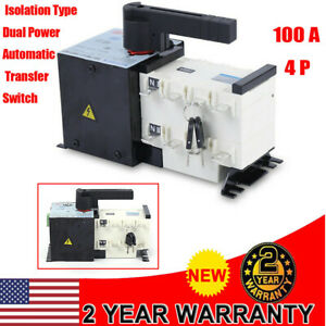 400v Ats 4p 100a Dual Power Automatic Transfer Switch Automatic Change Isolation