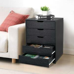 Rolling File Cabinet Heavy Duty Mobile Storage Filing Cabinet W 5 Drawers Black