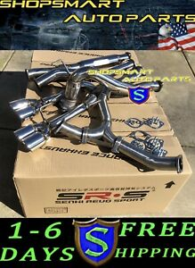 Srs Turboback Exhaust Systems Muffler Delete For 15 20 Wrx Polish Axleback