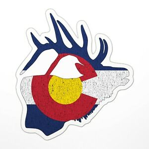 041 Colorado Elk Hunter Sticker Decal Outdoors Hunting Elk 3 Sizes