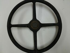 Vintage 4 Spoke Steering Wheel Ford Chevy With Horn Button Original Hot Rat Rod