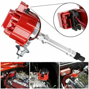 Hei Distributor 9000rpm For Chevy Gm Gmc 350 454 Sbc Bbc Small Big Block Red Cap