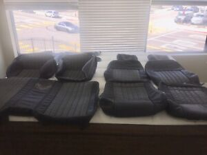 2002 Ceta Collector Edition Trans Am Ebony Black W Gray Realleather Seat Covers