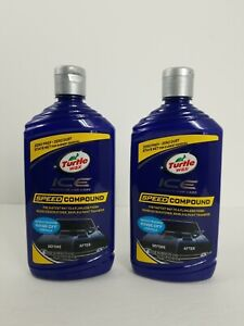 Lot Of 2 Turtle Wax Ice Speed Compound Auto Detailing Scratch Removal 16 Fl Oz