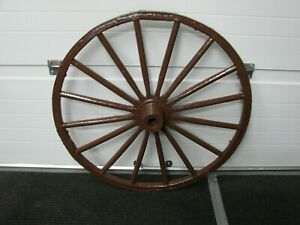 Antique Vintage Wooden Steel Rim 32 16 Spoke Carriage Wagon Wheel Pick Up Ny