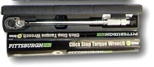 Torque Wrench 1 2 Inch Snap Socket Professional Drive Click Type Ratcheting