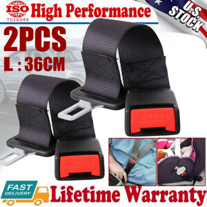 2x Universal Car Seat Seatbelt Safety Belt Extender Extension Adjustable Buckle
