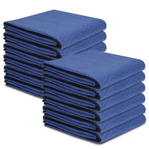 Blue 80 x72 Moving Blankets 12 Performance Heavy Duty Professional Quality