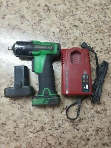 Snap On Ct761ag 14 4v Li Ion 3 8 Cordless Impact Wrench Kit With 2 Batteries