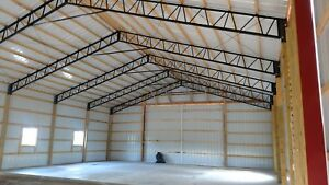 Steel Truss Pole Barn 40 Single Truss 1 To 200 Available