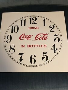 Coca Cola Clock Face - Large Size For Ingram  Gilbert  Etc. 3 Different Styles
