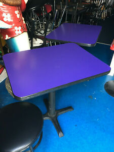 Used 24 X 30 Restaurant Tables Base Blue Pick Up Only In Illinois