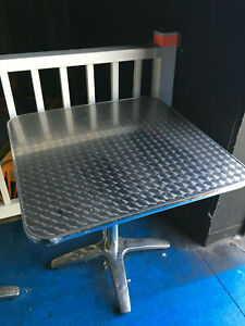 Used 30 X 30 Restaurant Tables Base Metalic silver Pick Up Only Illinois