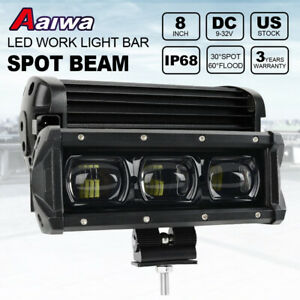 7 Inch 60w 6d Led Light Bar Pods Spot 4wd Atv Offroad Driving Fog Work Lamp