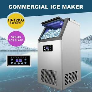 110lbs Commercial Ice Cube Maker Machine Undercounter 5x9 Ice Tray Air Cooled
