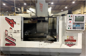Used Haas Vf 4 Cnc Vertical Machining Center Mill Gear Box 4th Ready 50x20 Vmc