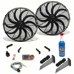 Super Cool Pack 10 S Blade Fans Fixed Temp Switch Harness Bracket Additive
