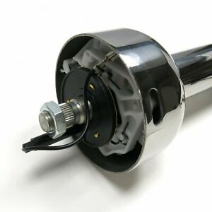 Polished Stainless Steel 30 Street Rod Steering Column Floor Shift Gm Hot Rod