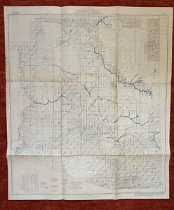 Index To Maps Of Arizona State Map 1963 28x24 Vtg Mid Century Us Geological