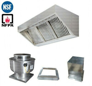 7 Ft Concession Trailer Food Truck Hood With Fire System