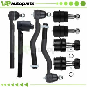 8pc Front Suspension Ball Joint Tie Rod End Kit For 1999 04 Jeep Grand Cherokee