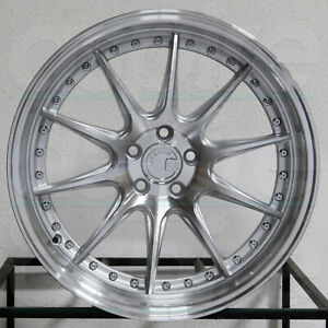 4 New 19 Aodhan Ds07 Ds7 Wheels 19x11 5x114 3 22 Silver Machined Rims