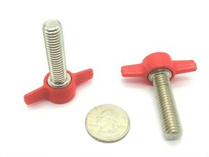 5 16 24 fine thumb Screws W Tee Wing Knob Red Black Ss various Sizes Qty