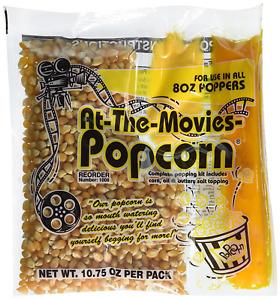 At the movies Popcorn Coconut Oil Portion Packs case Of 24 8oz Kettle