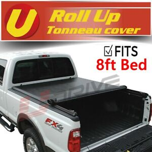 Roll Up Soft Lock Vinyl Tonneau Cover Fits 2015 2020 Ford F 150 8ft 96 Bed