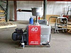 Edwards 40 Two Stage Vacuum Pump 208 230 460 V 48246j Used
