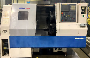 Used Daewoo Doosan Puma 240b Cnc Turning Center Lathe Tailstock Fanuc Machine 05