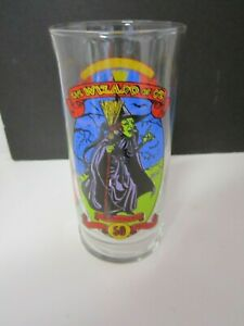 WIZARD OF OZ  WICKED WITCH 50TH ANNIVERSARY COCA COLA DRINKING GLASS NEVER USED