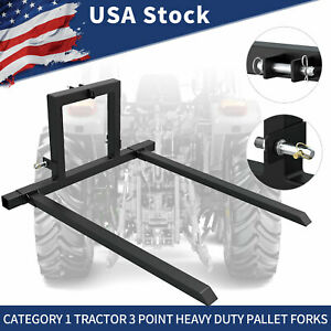 3 Point Hitch Pallet Mover Category 1 Tractor Attachment Adjustable Forks