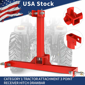 3 Point Trailer Hitch Receiver Drawbar Tow Attachment For Category 1 Tractor