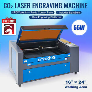 Omtech Upgraded 60w 24 x16 Co2 Laser Engraver Cutting With Lightburn Ruida