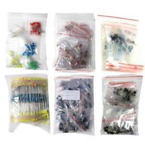1390pcs Electronic Components Led Diode Transistor Capacitor Resistance Kit L2q9