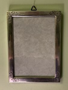 Antique Watrous Mfg Co Sterling Silver Photo Frame Hand Engraved Floral C1920