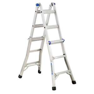 Multi Position Ladder Load Capacity Werner Reach Aluminum Telescoping 14 Ft New