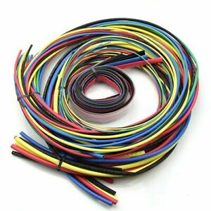 55m kit Heat Shrink Tubing 11 Sizes Colourful Tube Sleeving Wire Cable 6 Co E5c7
