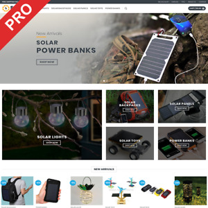 Solar Gadgets Store Ready made Dropshipping Website Business For Sale