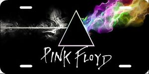 Pink Floyd License Plate New Car Tag Metal Aluminum Usa Black