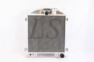 New 3 Row Radiator Chevy Engine Ford Grill Shells 3 Chopped 1933 1934 33 34