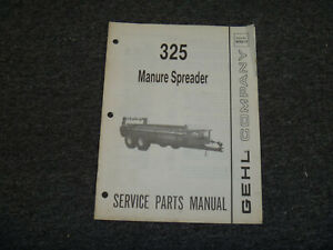 Gehl Ms325 Manure Spreader Parts Catalog Manual 904212