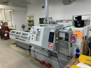 Used Haas Sl 20t Live Tool Cnc Turning Center Lathe Tooling Machine Barfeeder 07