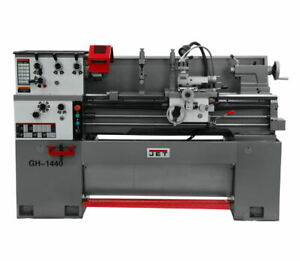 Jet 323375 Gh 1440 1 Lathe With Acu rite 203 Dro And Taper Attachment
