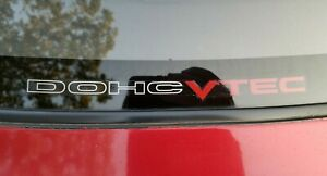 Honda Da6 Integra Xsi Rear Window Dohc Vtec Sticker Decal Oem Jdm B16 Rare Acura